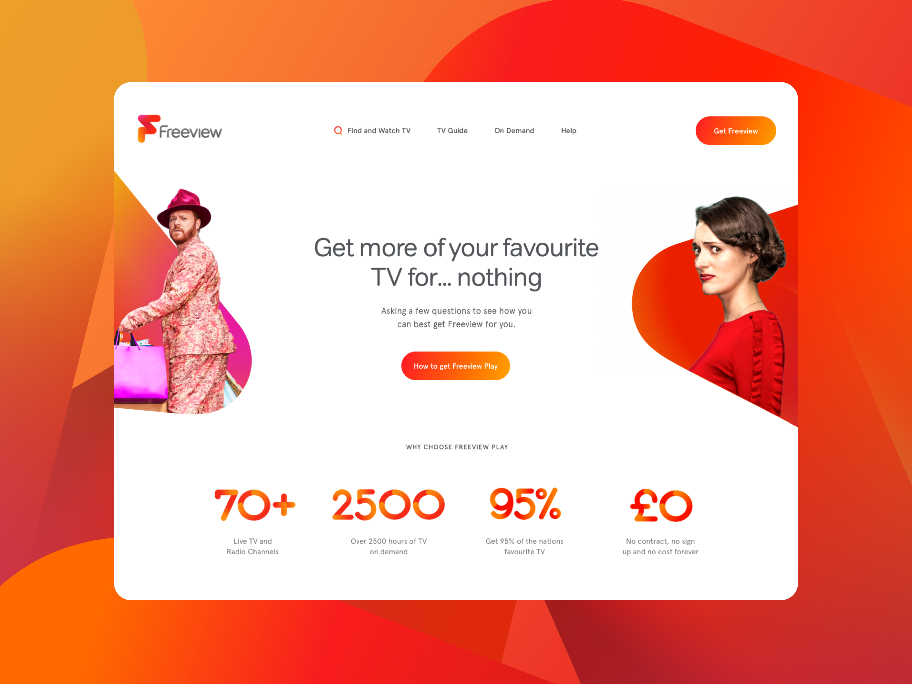 Freeview website redesign