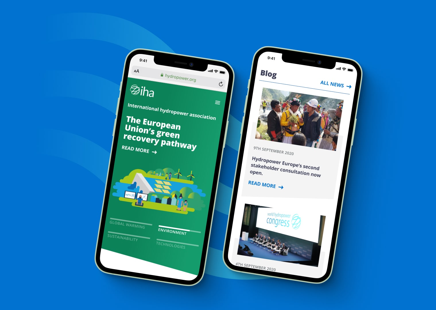 Promoting sustainable hydropower with a sleek new website